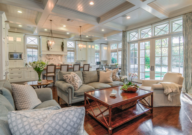 Open concept traditional white kitchen. Open concept traditional white kitchen opens to family room. #Openconcept #traditionalwhitekitchen #openfamilyroom Matt Morris Development
