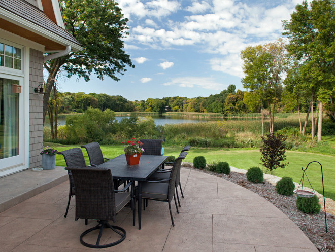 Patio with waterview patio-with-pond-view Hendel Homes