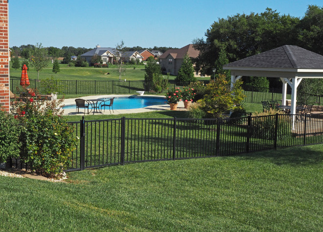 Fenced pool. Fenced pool backyard. Backyard view from the driveway. The house is set on a 1.5 acre lot. #Fencedpool #backyard Home Bunch Beautiful Homes of Instagram wowilovethat