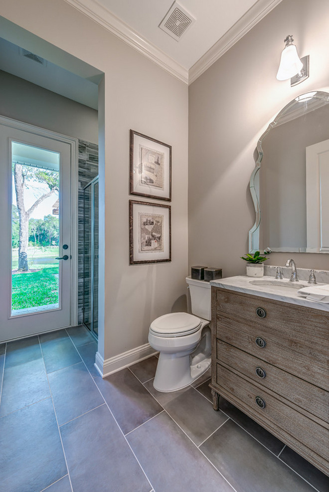 Sherwin Williams Worldly Gray. Neutral bathroom paint color. Sherwin Williams Worldly Gray #SherwinWilliamsWorldlyGray #neutral #bathroom #paintcolor