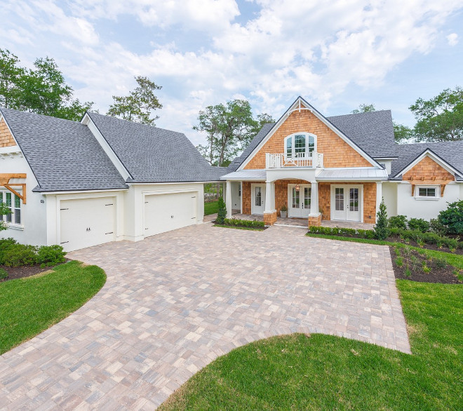 Shingle Home exterior. Siding Shingles: Real Cedar Shake Shingles, sealed to bring out natural color #ShingleHome #ShingleHomeexterior shingle-home
