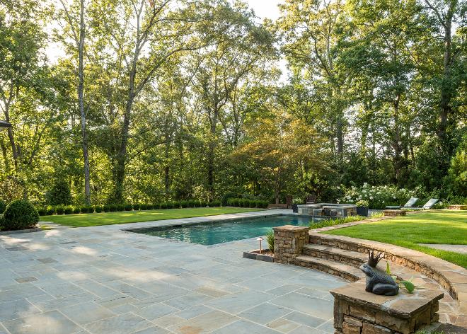 Bluestone patio stone. Stone patio is Kentucky Bluestone. Bluestone patio ideas. Kentucky Bluestone. The patio flat stone is Kentucky Bluestone. Wall stone is Tennessee Grey Orchard #Bluestone #patiostone #stone #bluestonepatio