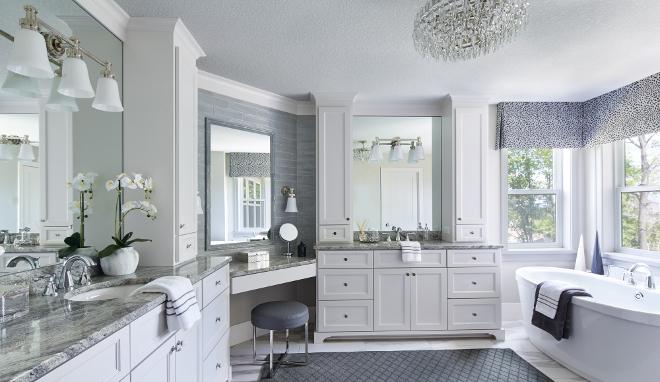 Spacious Bathroom. Spacious, this master bathroom has a calming spa- feel. bathroom #Spaciousbathroom #bathroom Vivid Interior Design