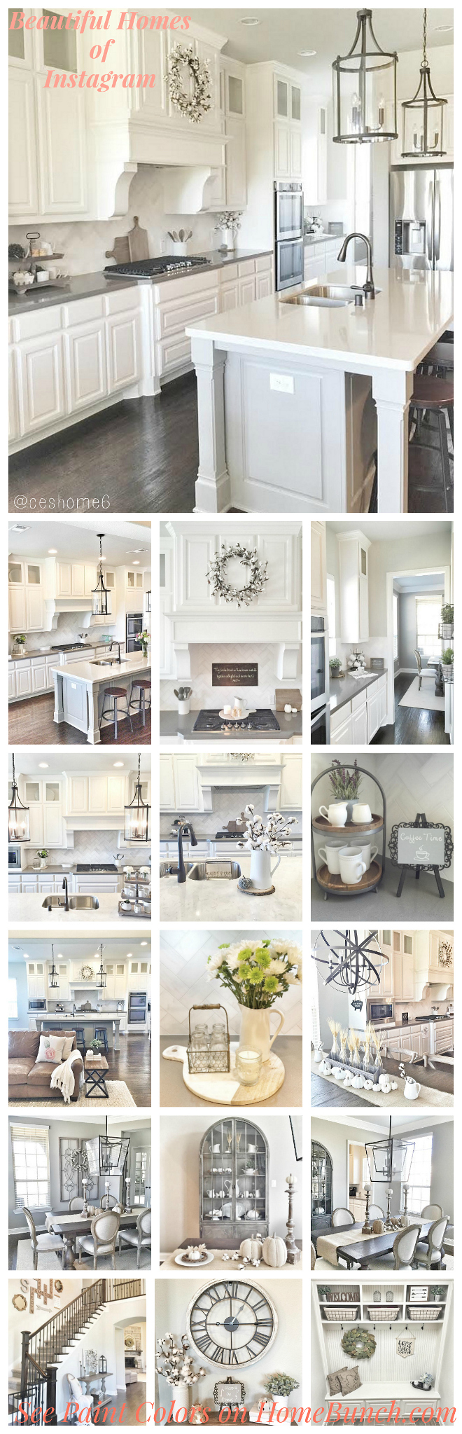 This farmhouse is being extremely popular on Pinterest. The post share all of the details such as paint colors, decor, lighting and more. Very helpful!