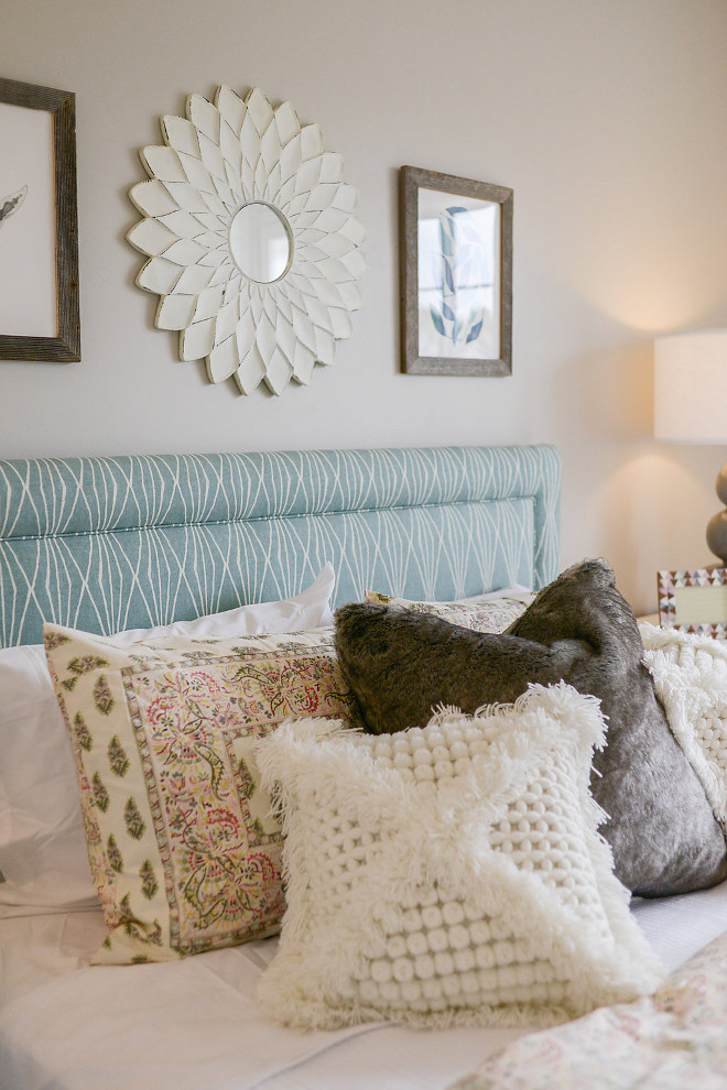 Bed Pillows. Layered beds always look more inviting! Millhaven Homes