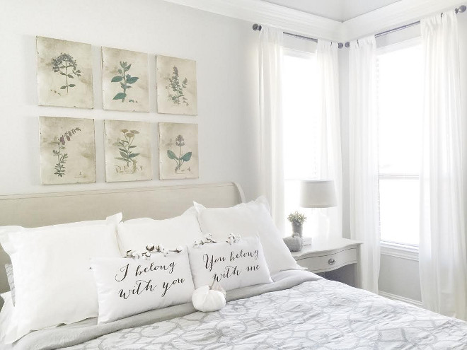 Bed, side tables and dresser: Restoration Hardware. Comforter: Restoration Hardware. Curtains: White from Ikea. Beautiful Homes of Instagram ceshome6