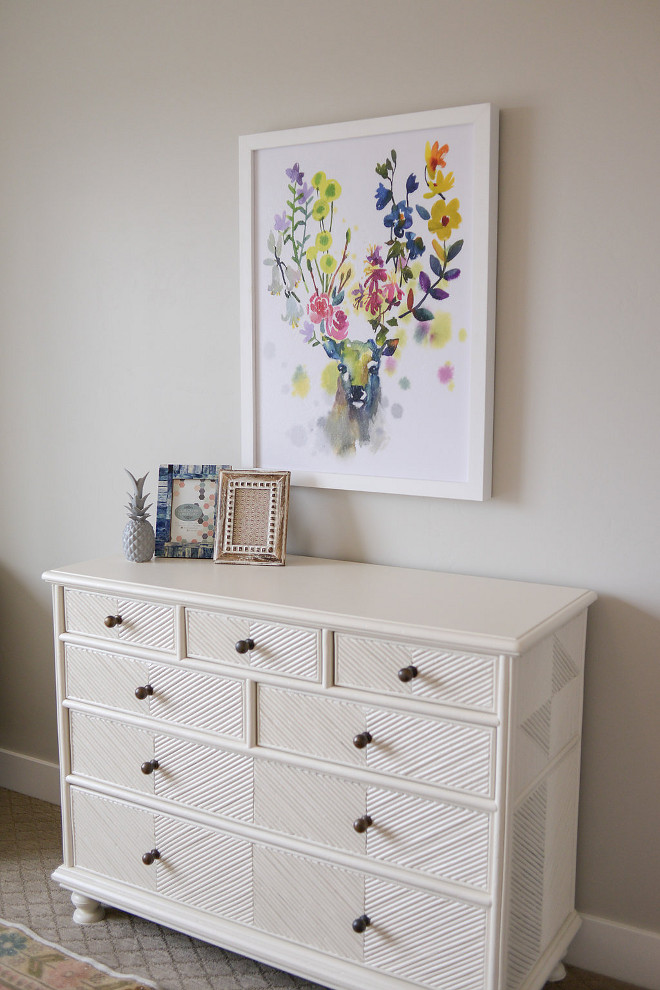 Bedroom dresser styling. This is a simple and great way to stylish a dresser. #bedroom #dresser #dresserstyling Millhaven Homes