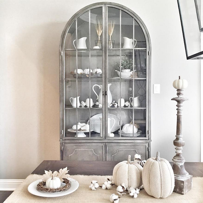 Dining room cabinet. My favorite piece in my home is this display cabinet that my husband surprised me with for our Anniversary/my birthday this year! #diningroom #cabinet 3diningroomcabinet #cabinet Beautiful Homes of Instagram ceshome6