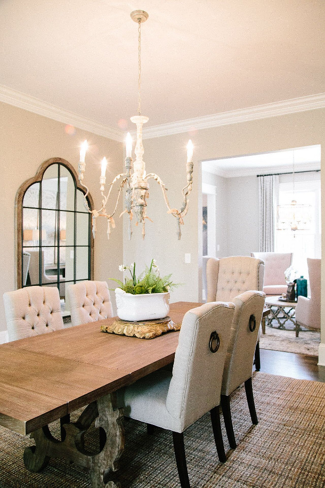 Dining room table and chairs. Neutral dining room table and chairs. Table and chairs in dining room #diningroom #table #chairs #diningrooms dining-room-table-chairs