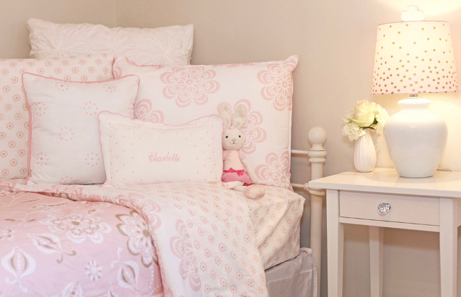 Girl's Bedroom Bedding. Girl's Bedroom Bedding Ideas. Girl's Bedroom Bedding #GirlsBedroomBedding Home Bunch's Beautiful Homes of Instagram peonypartydesigns