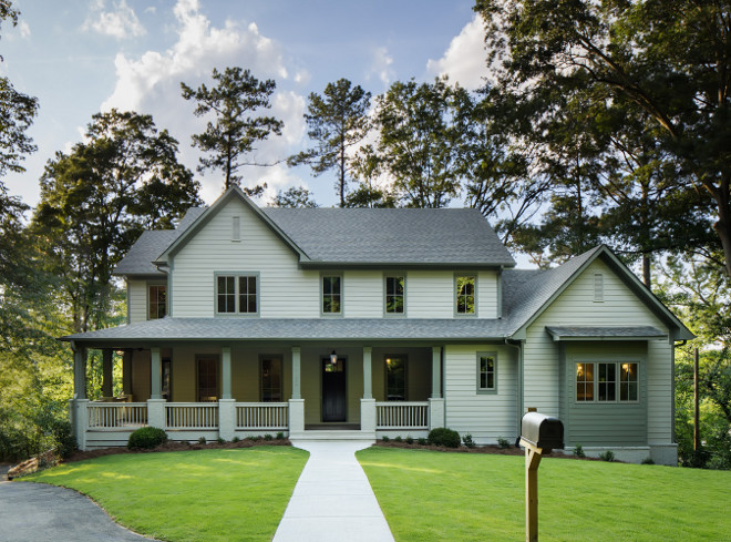 London Fog by Benjamin Moore. Grey exterior paint color is London Fog by Benjamin Moore. Grey exterior. Grey exterior ideas. #Greyexterior grey-exterior #LondonFogBenjaminMoore Willow Homes