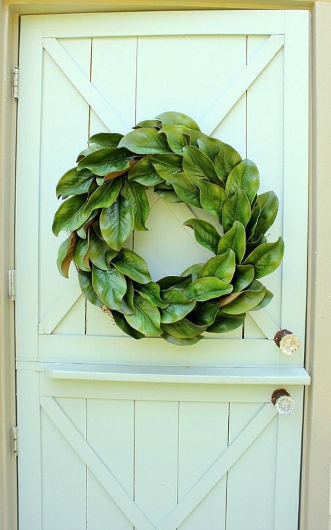 Handmade Magnolia Wreath. Handmade Magnolia Wreath from Etsy. Handmade Magnolia Wreath #HandmadeMagnoliaWreath #MagnoliaWreath DaisyMaeBelle on Etsy