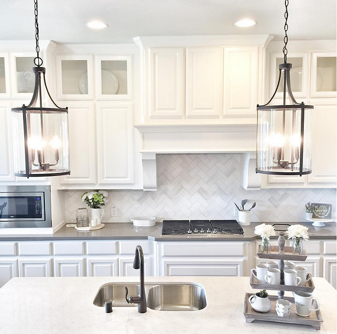 Kitchen Lighting. Kitchen island Lighting is Joss & Main Abigail Pendants. #KitchenLighting #Kitchen #Lighting #islandlighting