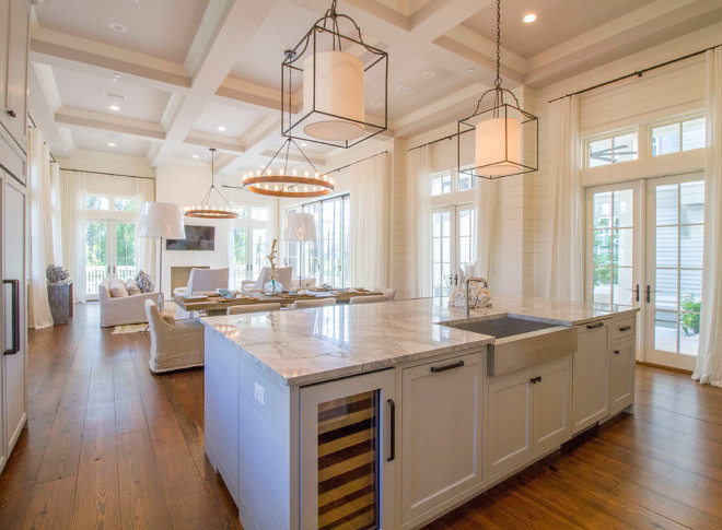 Kitchen Lighting and Family Room Lighting. The kitchen pendants are the Gustavian Lantern from Circa Lighting. The chandeliers are Arteriors Geoffrey 12 Light Chandelier. Kitchen Lighting and Family Room Lighting. Kitchen Lighting and Family Room Lighting #KitchenLighting #FamilyRoomLighting kitchen-lighting-and-family-room-lighting Geoff Chick & Associates