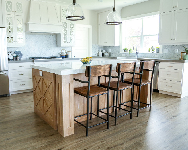 Pickled Oak. Pickled Oak Cabinet. The kitchen island is Pickled Oak. #PickledOak #cabinet #kitchenisland Millhaven Homes