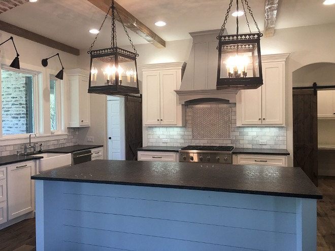 Leathered Steel Grey Granite.. Leathered Steel Grey Granite. Leathered Steel Grey Granite. Kitchen countertop is Leathered Steel Grey Granite. #LeatheredSteelGreyGranite #LeatheredGranite #LeatheredCountertop leathered-steel-grey-granite-countertop Instagram Newly Built Home Ideas Instagram @smithteam6