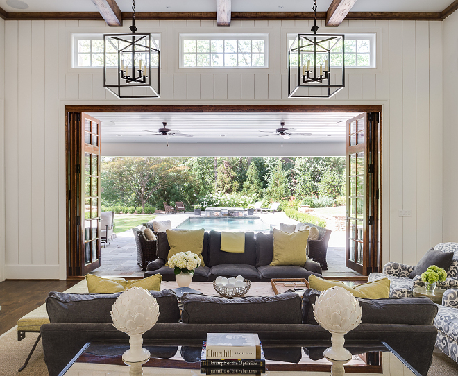 Living room lighting. Light fixtures in the living room are from Circa Lighting. #livingroom #lighting #livingroomlighting #lightfixture Interiors by Courtney Dickey. Architecture by T.S. Adam Studio.