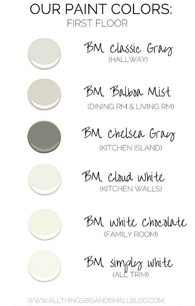 Neutral Entire Home Color Palette. Benjamin Moore Classic Gray. Benjamin Moore Balboa Mist. Benjamin Moore Chelsea Gray. Benjamin Moore Cloud White. Benjamin Moore White Chocolate. Benjamin Moore Simply White. Benjamin Moore Simply White. #Neutral #EntireHome #ColorPalette neutral-entire-home-color-palette