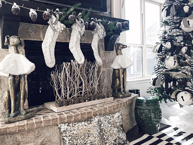 Neutral Fireplace Christmas Decor. Neutral Fireplace Christmas Decor Ideas. Neutral Fireplace Christmas Decor. #NeutralFireplaceChristmasDecor Whistiques Design via Instagram @whistiques