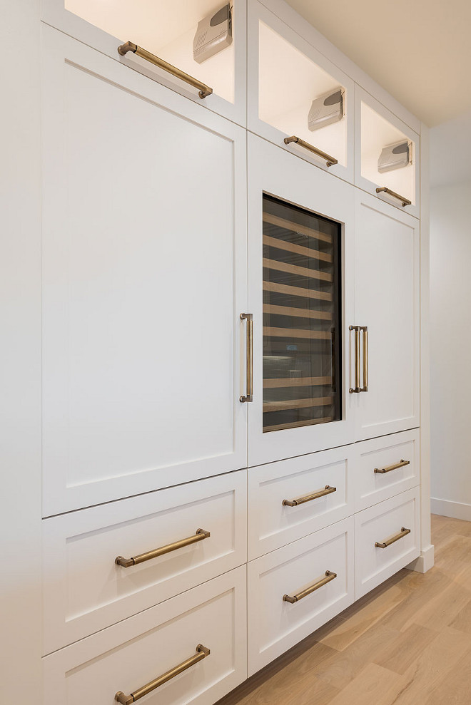 Paneled Fridge and Paneled freezer cabinet. Paint Color is Benjamin Moore Swiss Coffee. Paneled Fridge and Paneled freezer cabinet layout. #PaneledFridge #Paneledfreezer #cabinet #PaneledFridgecabinetlayout #Paneledfreezercabinetlayout paneled-fridge-paneled-freezer-cabinet-layout Caitlin Creer Interiors & @mariannebrown12. Northstar Builders, Inc. Photo by @lucycall