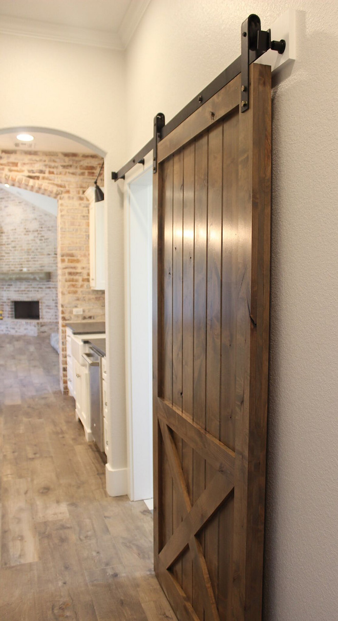 Pantry Barn Door. Kitchen Pantry Barn Door. Pantry Barn Door Stain Color. Pantry Barn Door. #PantryBarnDoor #KitchenPantryBarnDoor #Pantry #BarnDoor pantry-barn-door Instagram Newly Built Home Ideas Instagram @smithteam6
