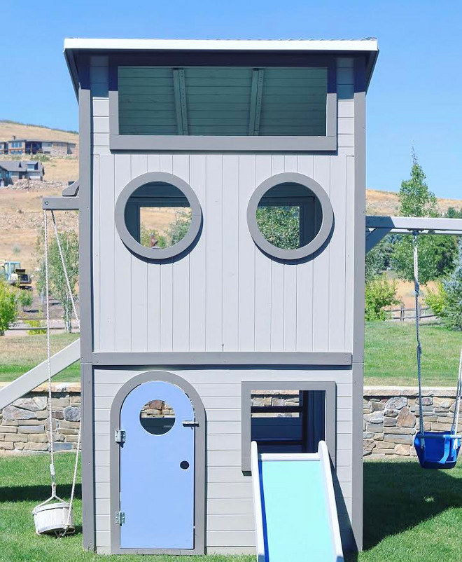 Playhouse. Playground The playground is by Cedarworks Playsets. We painted it and added tin roof to match house. #playhouse #playground playhouse Home Bunch's Beautiful Homes of Instagram @artfulhomestead