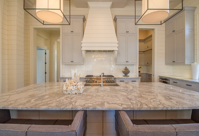 Quartzite Countertop. Quartzite Countertop. Countertop is quartzite. Backsplash is a Walker Zanger ceramic tile. Quartzite Countertop. Kitchen Quartzite Countertop #QuartziteCountertop quartzite-countertop Geoff Chick & Associates