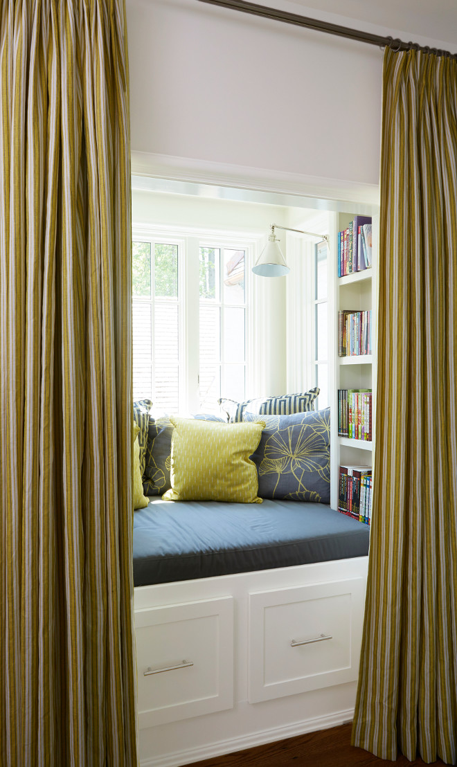 Reading Nook with Draperies. Reading Nook with Draperies and bookcase. #ReadingNook #Draperies #ReadingNookDraperies reading-nook-with-draperies Tracery Interiors