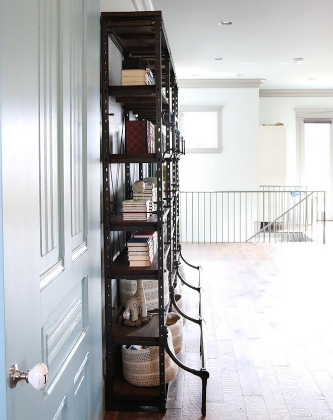 Industrial Bookcases. Bookcases are from Restoration Hardware. #industrialbookcase restoration-hardware-bookcase Home Bunch's Beautiful Homes of Instagram @artfulhomestead
