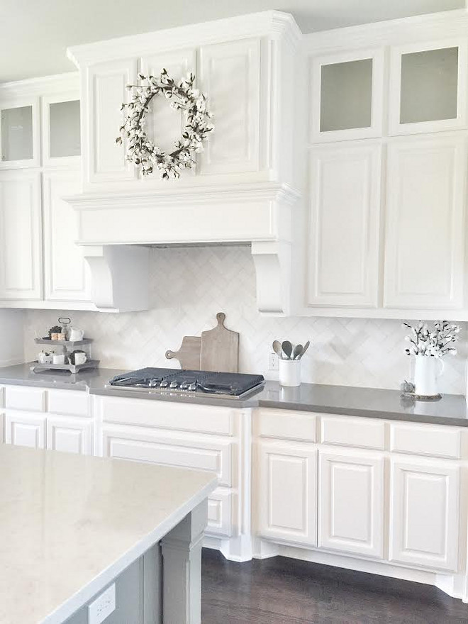 Best Crisp White Cabinet Paint Color. Crisp white cabinet paint color. This is the purest white paint color you can get for cabinets. Sherwin Williams Pure White. Sherwin Williams Pure White. #SherwinWilliamsPureWhite #white #paintcolor #whitecabinetpaintcolor #whitecolor Beautiful Homes of Instagram ceshome6