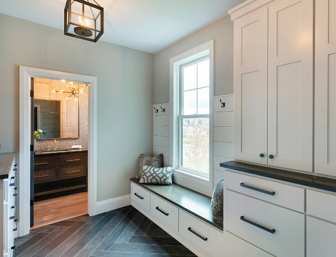 Sherwin Williams SW7030 Anew Gray. Sherwin Williams SW7030 Anew Gray. Grey mudroom paint color Sherwin Williams SW7030 Anew Gray. #SherwinWilliamsSW7030AnewGray #SherwinWilliams #SW7030 #AnewGray #SherwinWilliamsSW7030 #SherwinWilliamsAnewGray sherwin-williams-sw7030-anew-gray Homes by Tradition