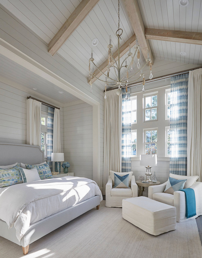 Bedroom with shiplap walls and vaulted shiplap ceiling. Bedroom shiplap walls and vaulted shiplap ceiling. #bedroom #shiplapwalls #vaultedshiplapceiling shiplap-bedroom-with-vaulted-ceiling