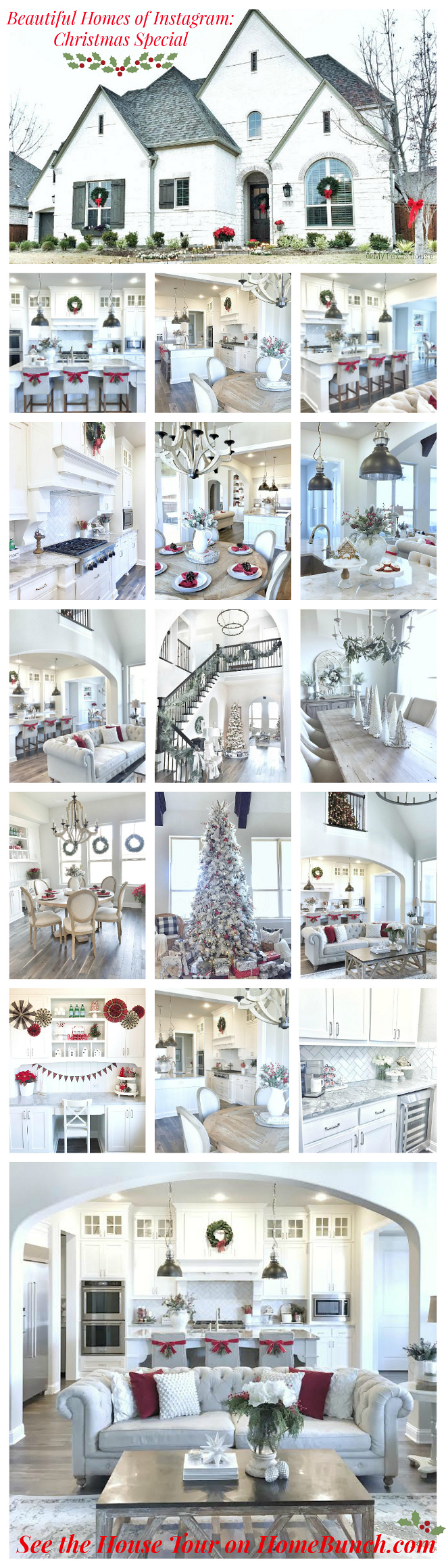 Beautiful Homes of Instagram: Christmas Special. Great Christmas decorating ideas.