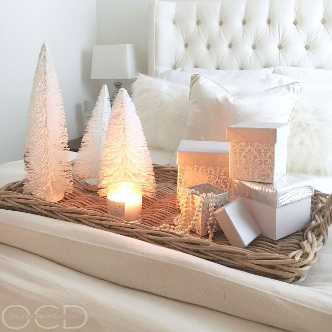 Bedroom Christmas Tray Decor. Bedroom Christmas Tray Decor Ideas. Bedroom Christmas Tray Decor #BedroomChristmasTrayDecor #Bedroom #ChristmasTrayDecor Beautiful Homes of Instagram organizecleandecorate