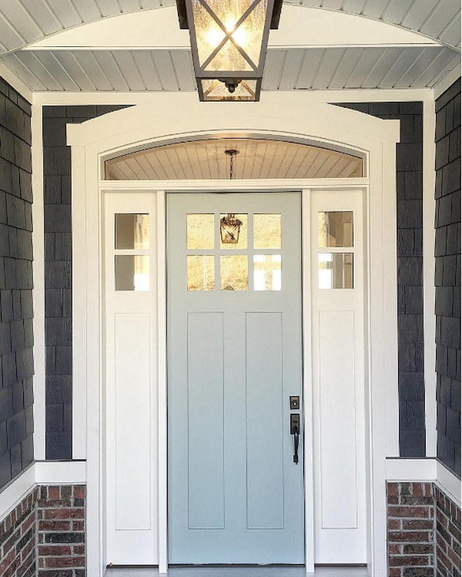 Benjamin Moore Wedgewood Gray. Benjamin Moore Wedgewood Gray. Grey front door paint color. Benjamin Moore Wedgewood Gray. #BenjaminMooreWedgewoodGray Millhaven Homes.
