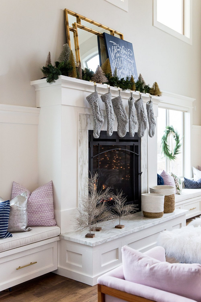 Christmas Fireplace Decor. Christmas Fireplace Decor Ideas. New Christmas Fireplace Decor. #ChristmasFireplaceDecor #ChristmasFireplaceDecorIdeas #NewChristmasFireplaceDecor Studio McGee