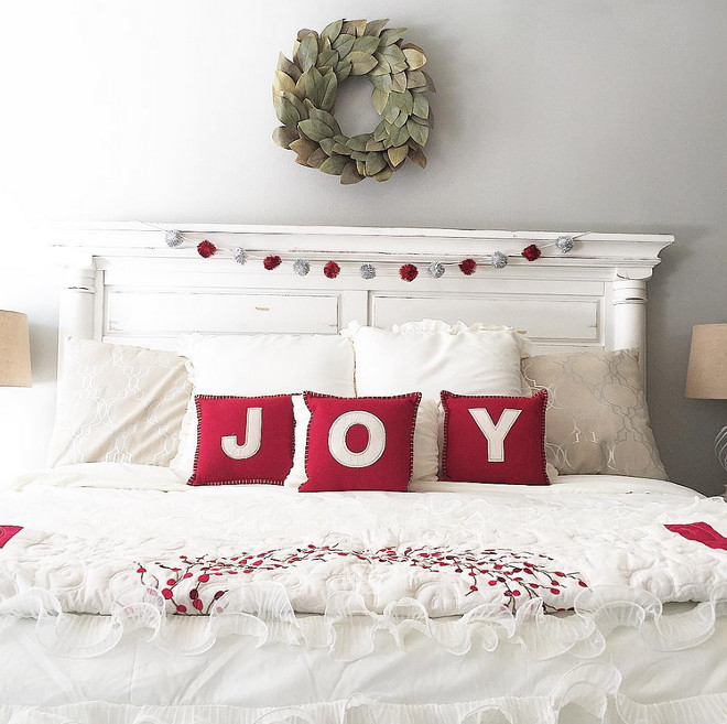 Christmas Joy Pillows and Magnolia Wreath. Christmas Joy Pillows and Magnolia Wreath Ideas. Christmas Joy Pillows and Magnolia Wreath #ChristmasJoyPillows #ChristmasPillows #MagnoliaWreath Mary Beth via Instagram @houseofnichols.