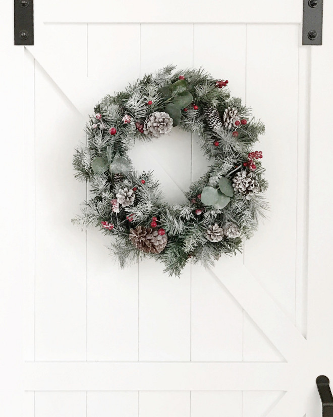 Christmas Wreath. Barn Door Christmas Wreath. Christmas Wreath. Barn Door Christmas Wreath Ideas. Christmas Wreath. Barn Door Christmas Wreath #ChristmasWreath #Christmas #Wreath #BarnDoor Instagram Beautiful Homes of Instagram @NC_HomeDesign