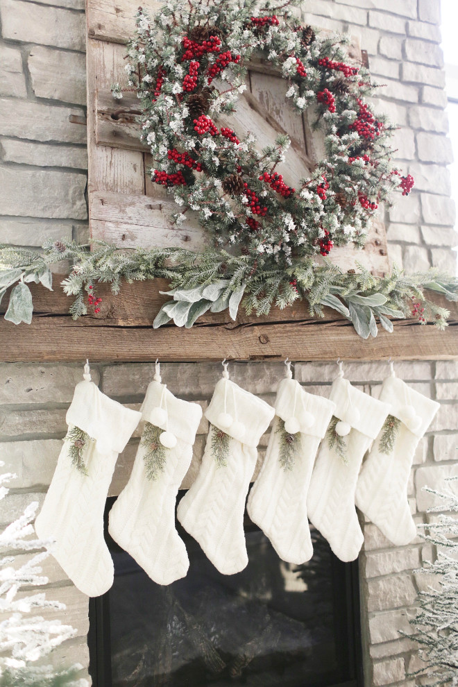Farmhouse Christmas Stockings. Farmhouse Christmas Stocking Ideas. Farmhouse Christmas Stockings #Farmhouse #Christmas #Stockings #FarmhouseChristmasStockings #ChristmasStockings #Christmas #Stockings Instagram Beautiful Homes of Instagram @NC_HomeDesign