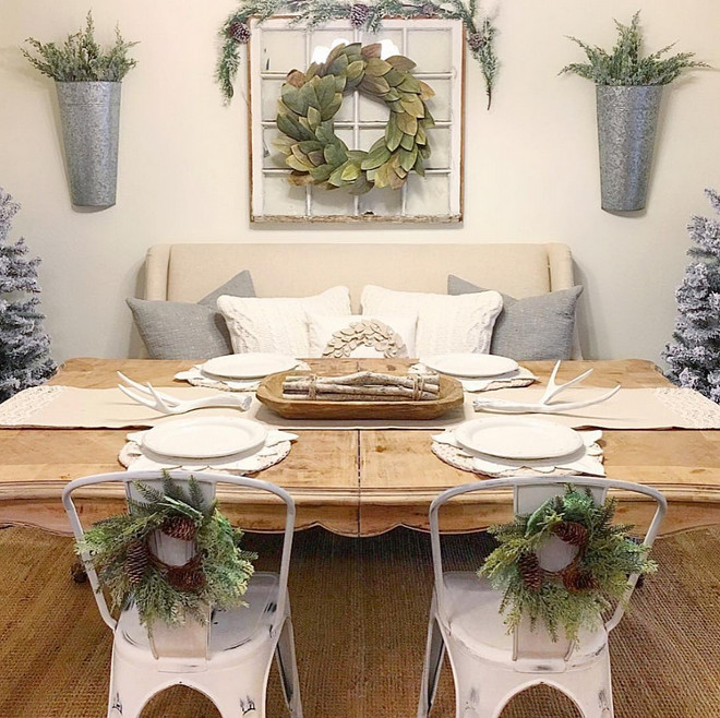 Farmhouse Dining Room Ideas: Christmas & Interior Decorating Ideas