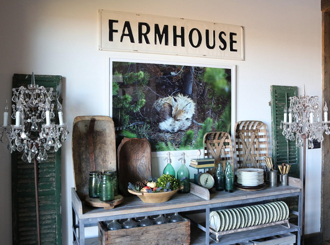 Farmhouse Dining Room Console Table. Farmhouse Dining Room Console Table Ideas. Rustic Farmhouse Dining Room Console Table #rusticFarmhouseDiningRoom #FarmhouseDiningRoomConsoleTable Home Bunch's Beautiful Homes of Instagram @birdie_farm