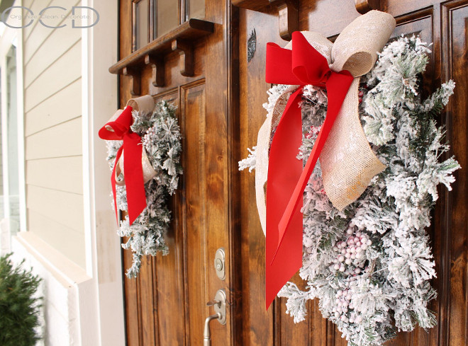 Flocked Wreath. Flocked Wreath. Flocked Wreath <Flocked Wreath> Flocked Wreath #FlockedWreath Beautiful Homes of Instagram organizecleandecorate