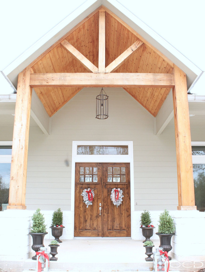 Front Entry Porch Exposed Beams. Front Entry Porch with exposed beams. Front Entry Porch exposed beams. #FrontEntry #Porch #exposedbeams Beautiful Homes of Instagram organizecleandecorate