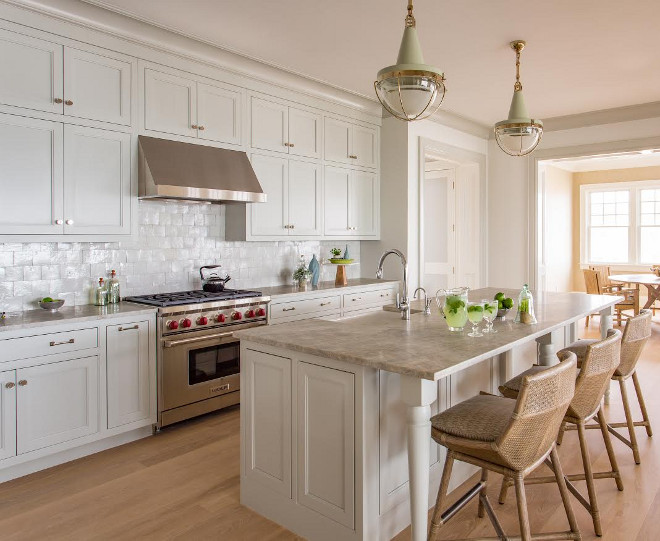 Grey Kitchen Backsplash Tile. Grey Kitchen Backsplash Tile Ideas. Grey kitchen with grey backsplash tile. Grey backsplash tile is Backsplash is by Mosaic House MDJ 4X4. #GreyKitchen #greyBacksplashTile #greytile #greykitchentile #greykitchenbacksplash