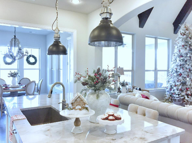Island Lighting. Kitchen island lighting is from Magnolia Market in Waco, TX. Kitchen Island Lighting. Island Lighting #IslandLighting #KitchenIslandLighting #MagnoliaMarket MyTexasHouse