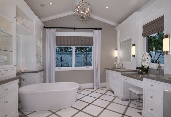 Master Bathroom Vaulted Ceiling