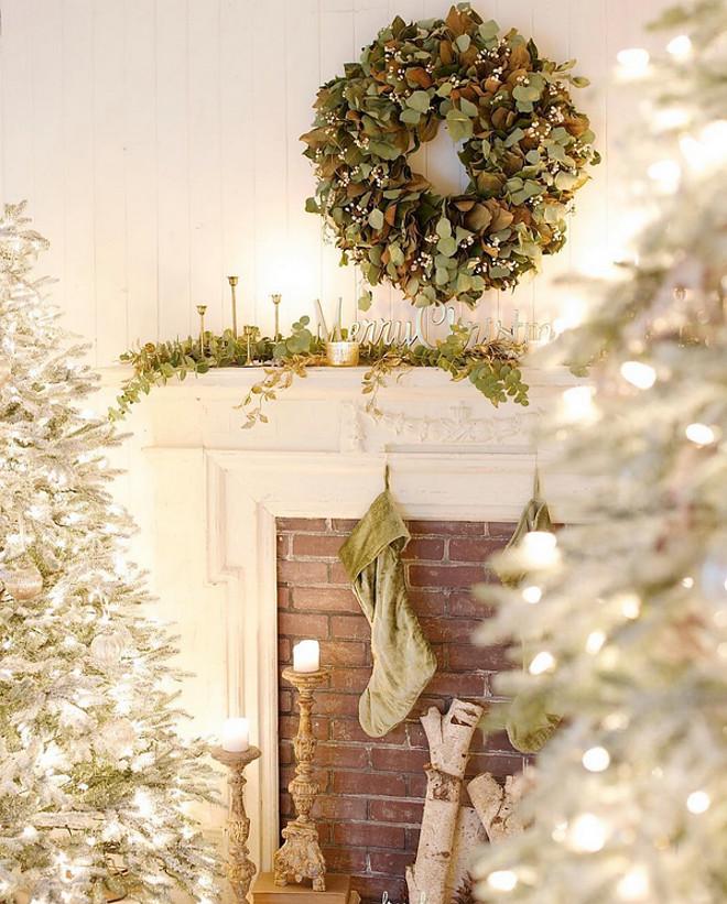 Neutral Christmas. Neutral Christmas Ideas. Neutral Christmas #NeutralChristmas French Country Cottage via Instagram @frenchcountrycottage