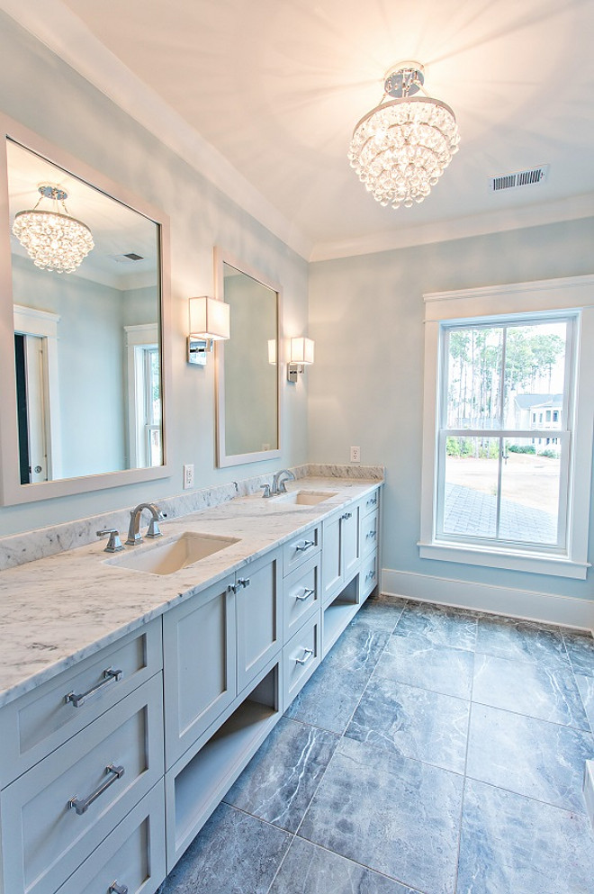 Grey Vanity Paint Color On The Rocks By Sherwin Williams Sw7671
