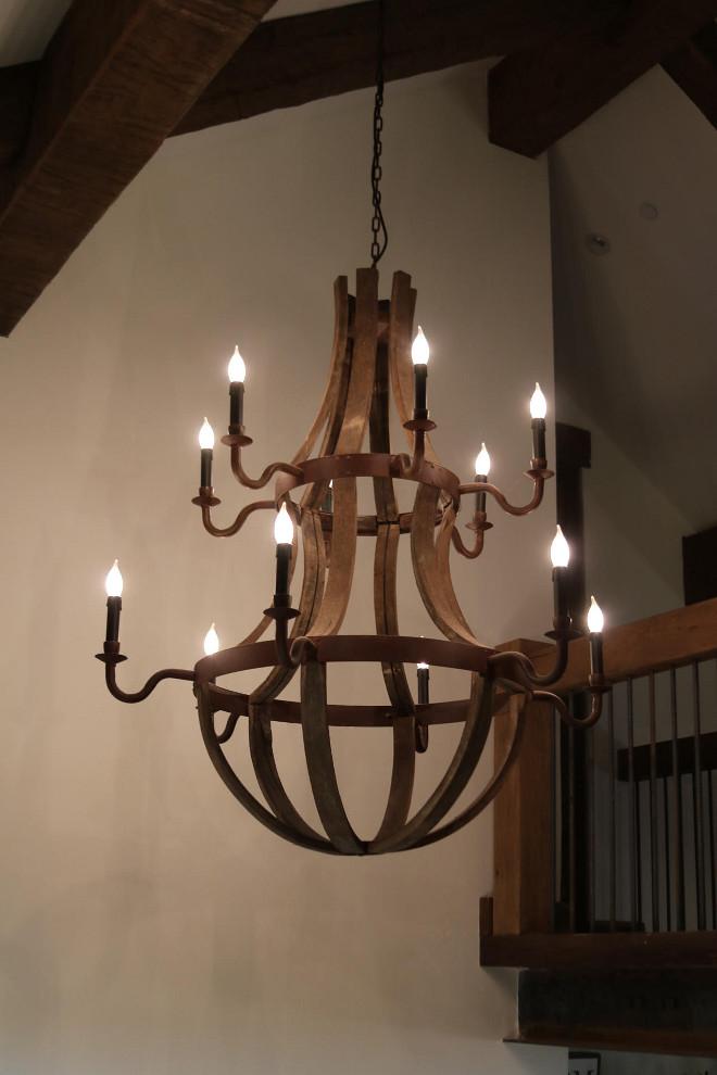 Wooden wine barrel chandelier wooden designs wood wine barrel chandelier designs aloadofball Gallery
