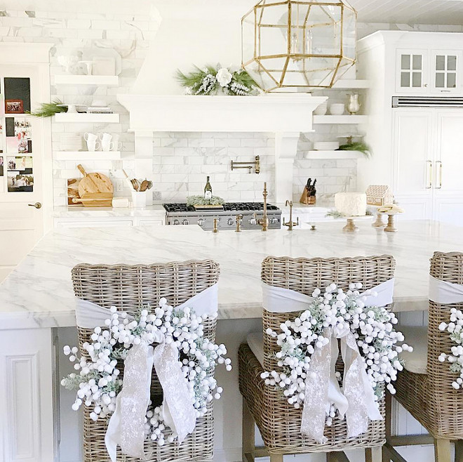 White Christmas Kitchen. White Christmas Kitchen Decor. White Christmas Kitchen Decorating Ideas. <White Christmas Kitchen> #WhiteChristmasKitchen #WhiteChristmasKitchenDecor #WhiteChristmasKitchenDecoratingIdeas Pink Peonies.